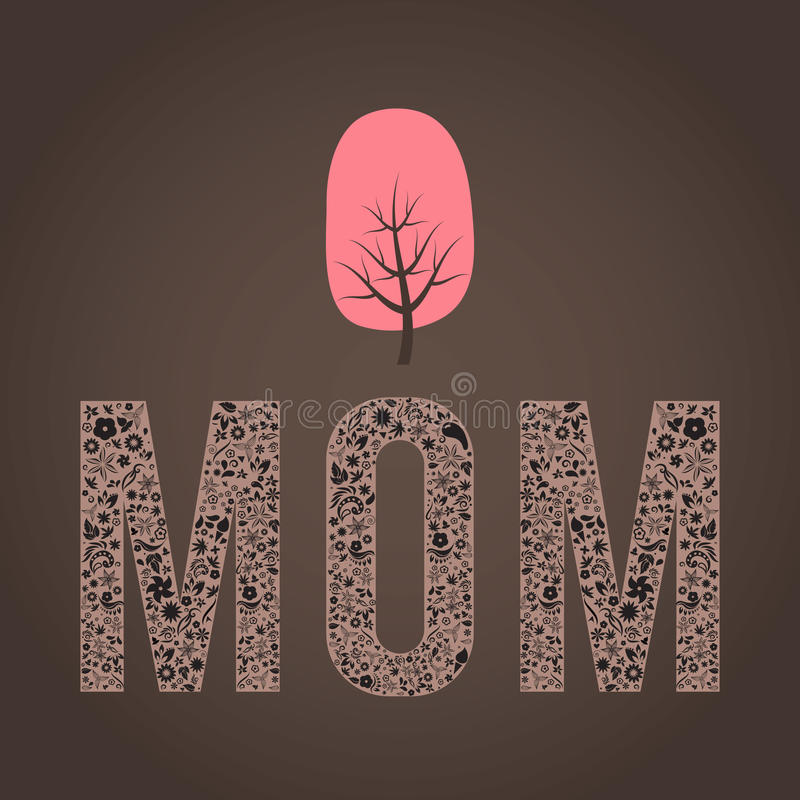 Download Vector Cheerful Abstract Mothers Day Poster With W Stock Vector - Image: 34637898