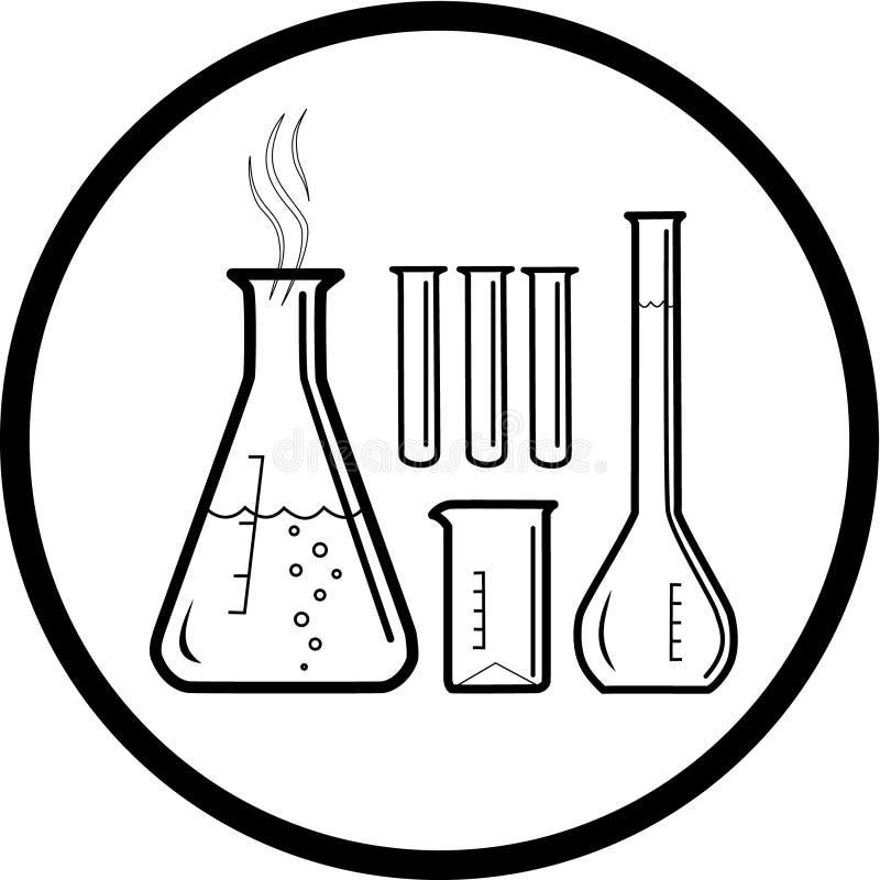 Vector chemisch reageerbuizenpictogram vector illustratie