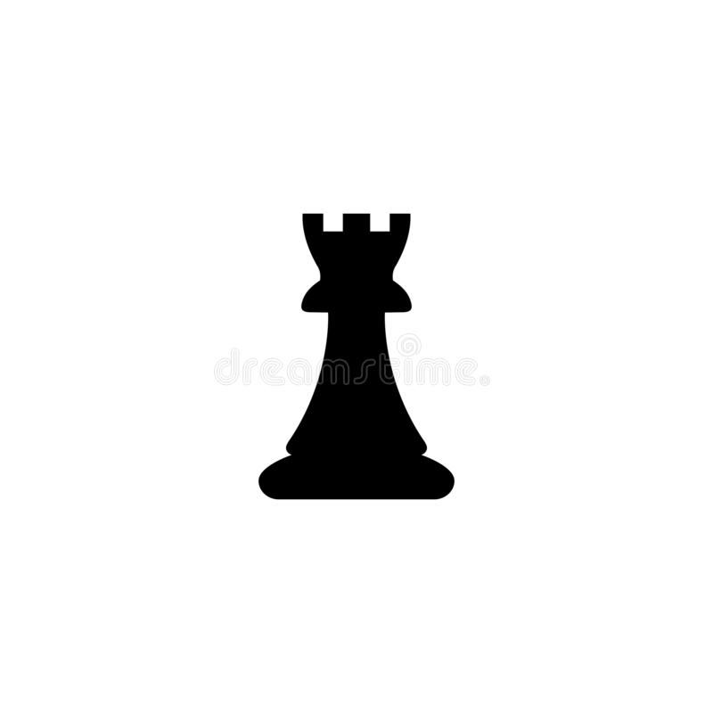 Free Vector Chess Piece Set For Logo Design,rook Icon Illustration Royalty Free Stock Photos - 163619928