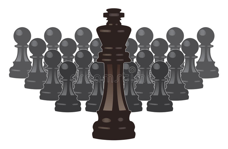 Download Vector Chess Pieces Of A King And Pawns Stock Vector - Illustration: 24196231