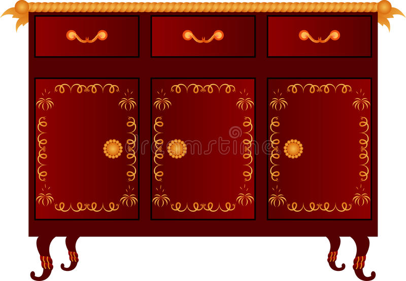 Vector. Chest of drawer. Vector illustration of chest of drawers vector illustration