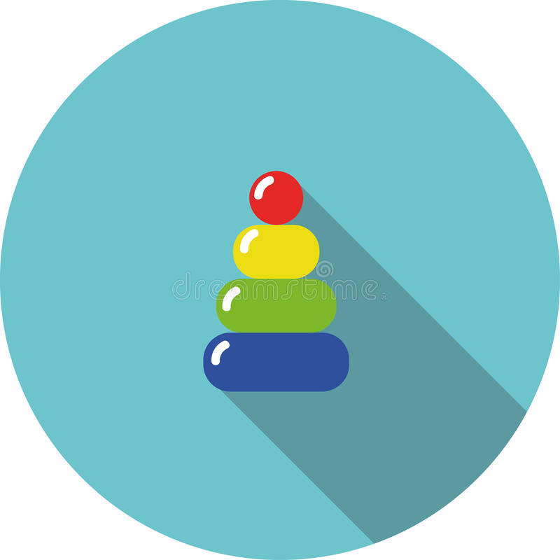 Vector children icon variegated toy pyramid stock photo