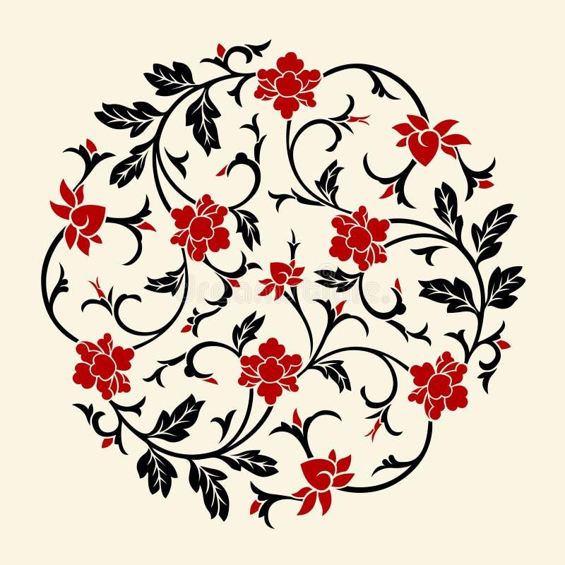Vector Chinees Ornament stock illustratie