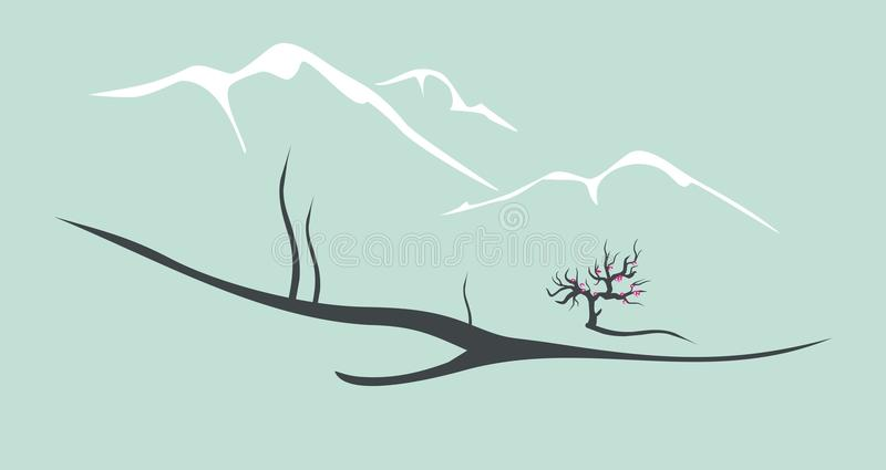 Download Vector chinese landscape stock vector. Image of seasonal - 20720931
