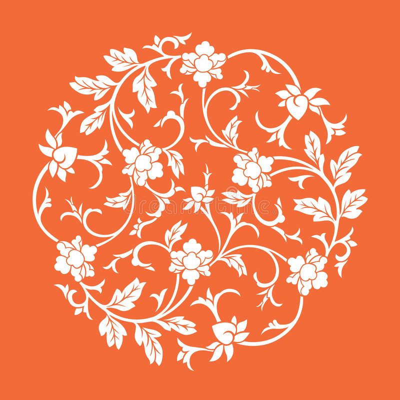 Vector chinese ornament stock illustration