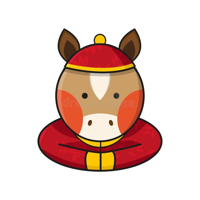 Vector chino de la Feliz Año Nuevo del caballo ilustración del vector