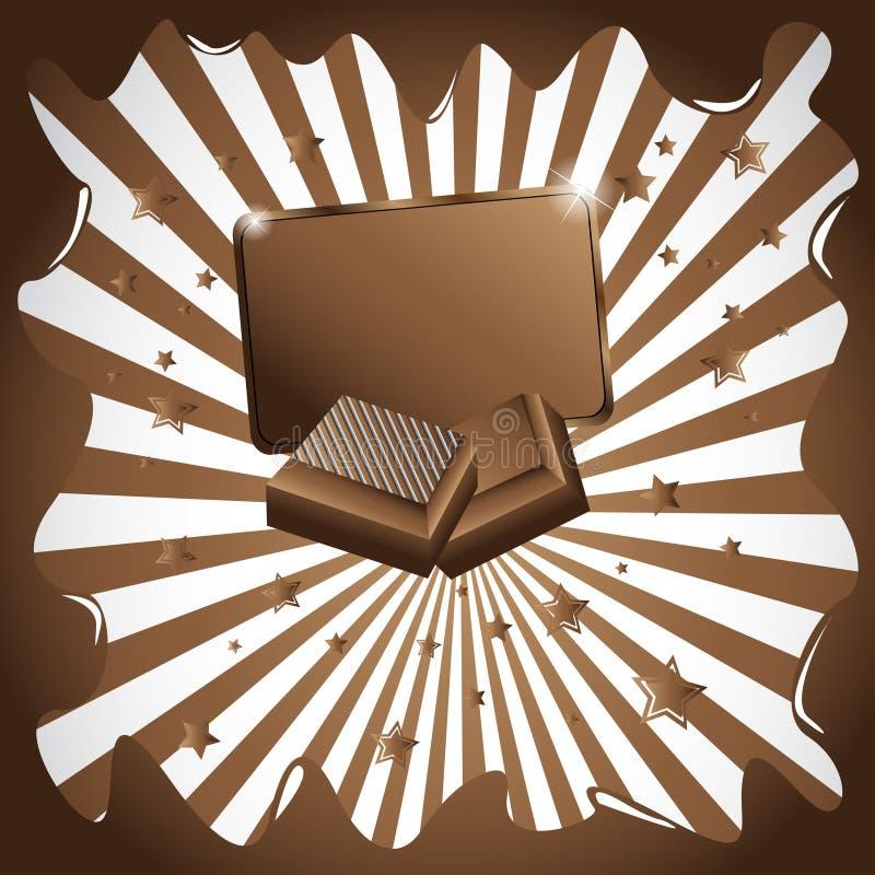 Vector chocoladeachtergrond stock illustratie