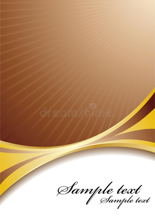 Vector chocolate background royalty free illustration