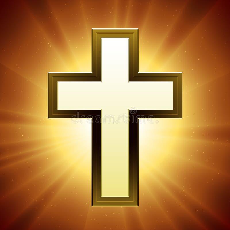 Vector Christelijk Kruis royalty-vrije illustratie