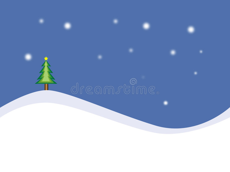 Vector Christmas Background stock illustration