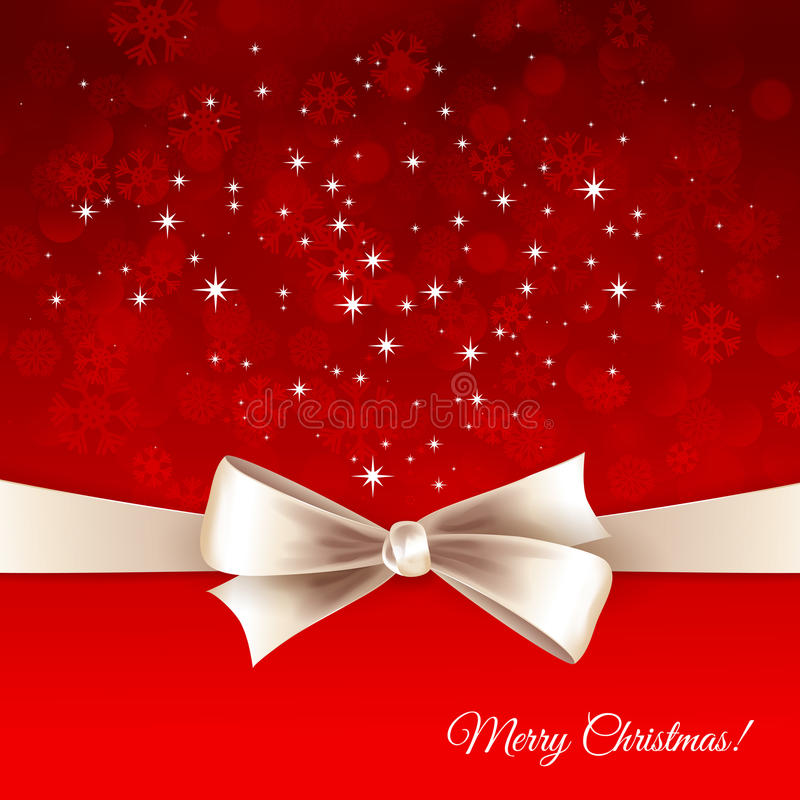 Vector Christmas Background With  Bow Stock Photos
