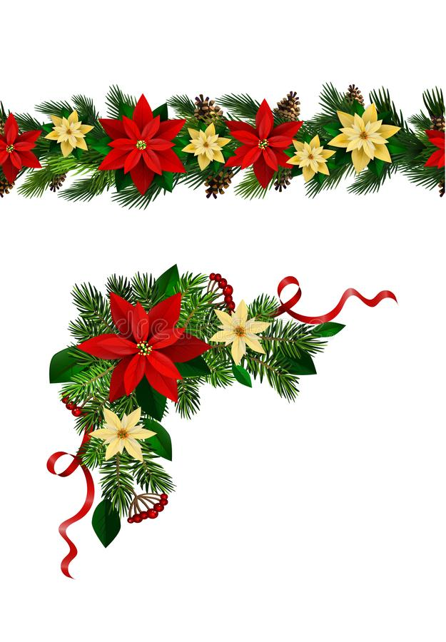 Free Vector Christmas Border Decoration Collection Royalty Free Stock Photo - 165850455