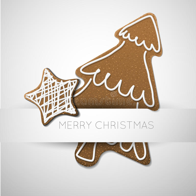 Download Vector Christmas Card With Gingerbreads Stock Illustration - Illustration of home, candy: 26437089