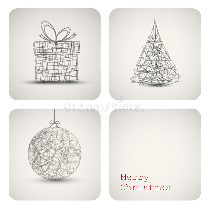 Vector christmas decoration card vector illustration