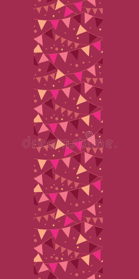 Vector christmas decorations flags vertical border royalty free stock image