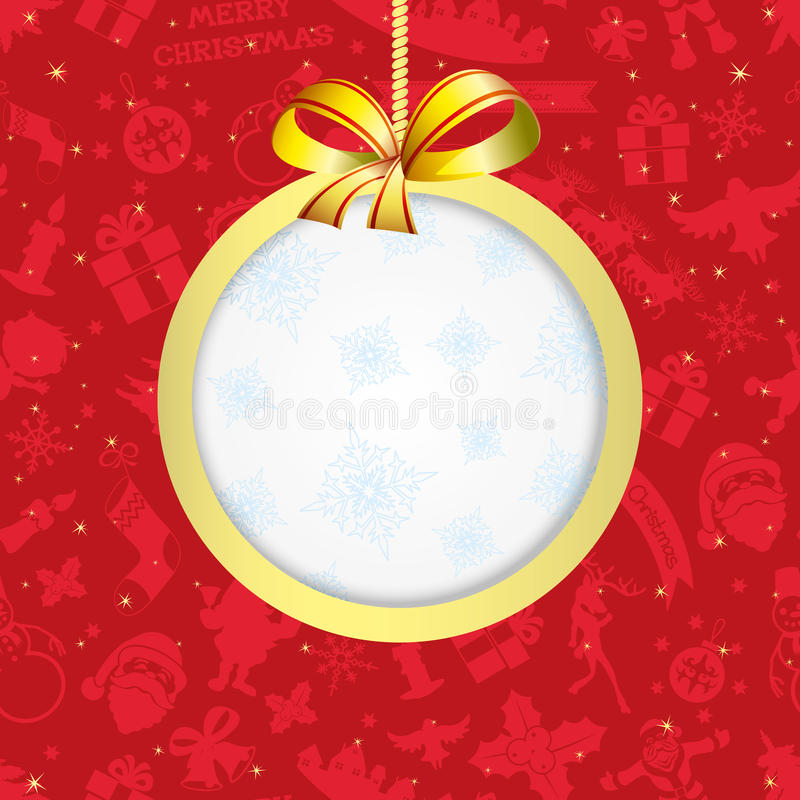 Vector. Christmas frame. stock illustration