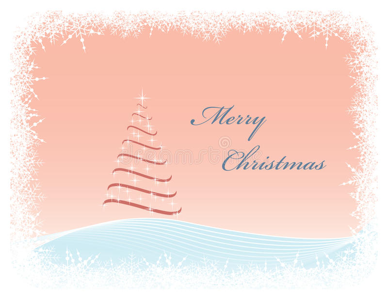 Vector Christmas greeting card stock illustration
