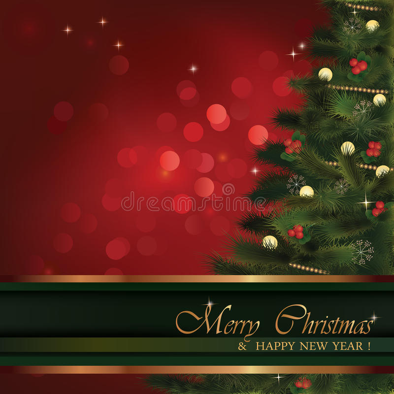 Vector Christmas greeting card vector illustration