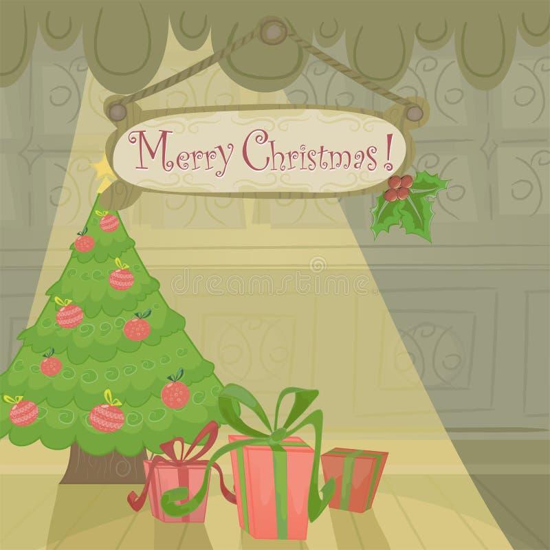 Vector Christmas holiday card stock illustration