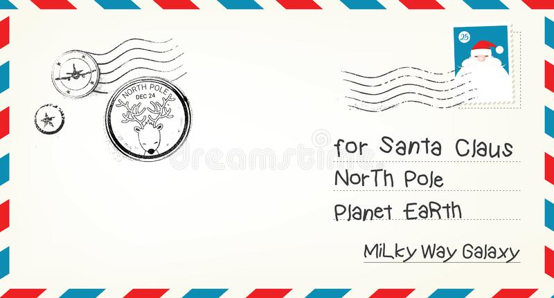 Vector Christmas Letter Envelope royalty free illustration