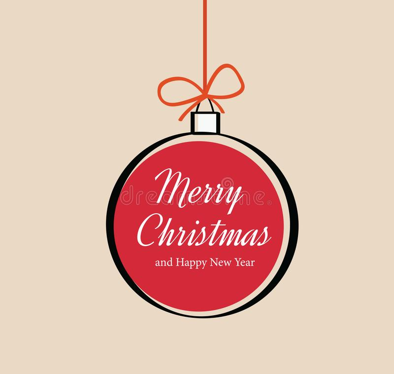 Free Vector Christmas Ornament With Text Merry Christmas. - Illustration Royalty Free Stock Photo - 136233995