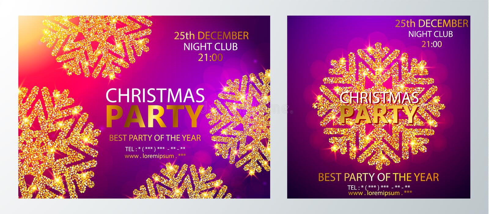 Vector Christmas Party design template. Vector illustration stock illustration