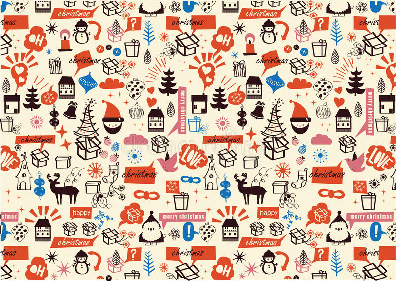 Download Vector - Christmas Repeated Pattern Stock Illustration - Image: 22122628