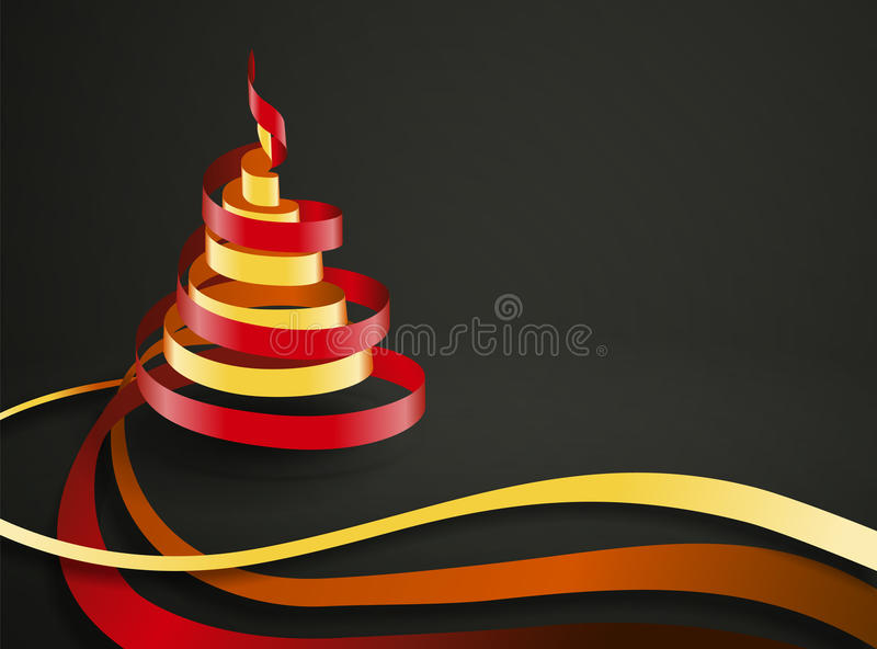 Vector Christmas Ribbon vector illustration