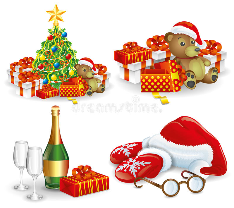 Vector. Christmas set. stock illustration