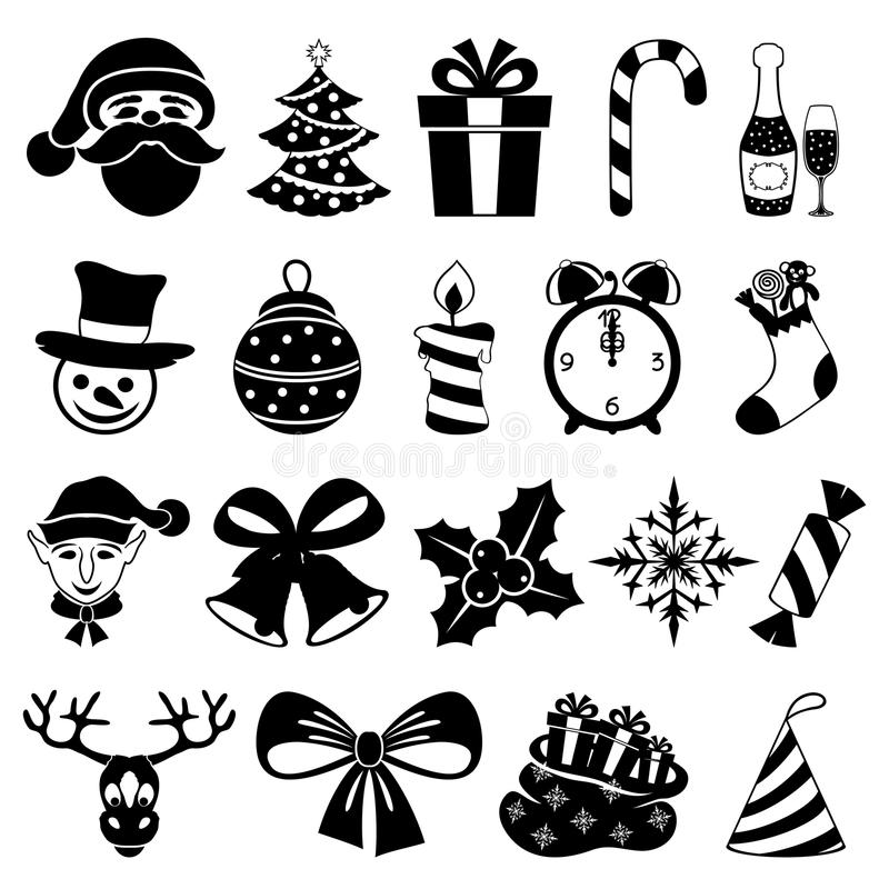 Vector. Christmas set. royalty free illustration
