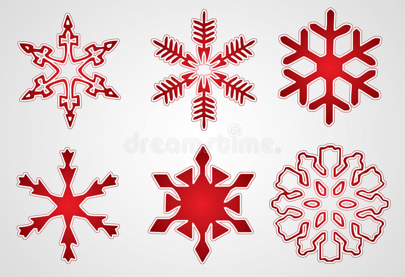 Vector Christmas Snowflake Royalty Free Stock Images