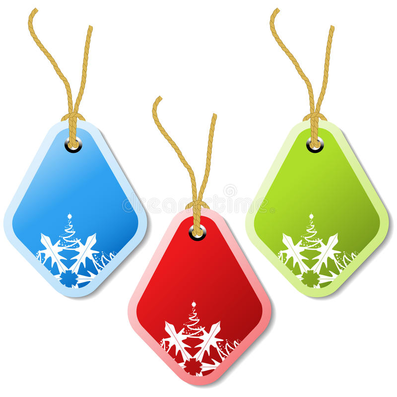 vector christmas tags stock illustration
