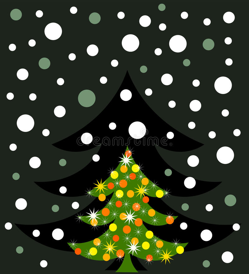 Download Vector Christmas tree stock vector. Image of baubles - 20550765