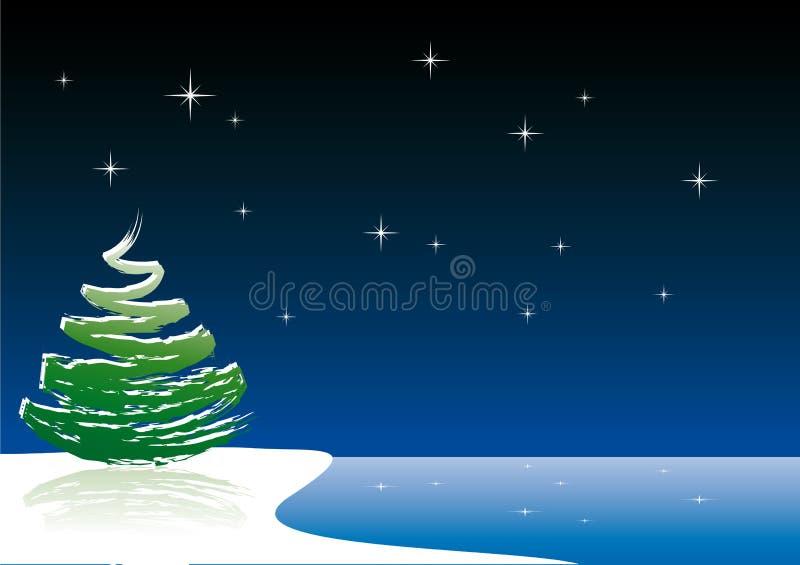 Vector Christmas tree royalty free illustration