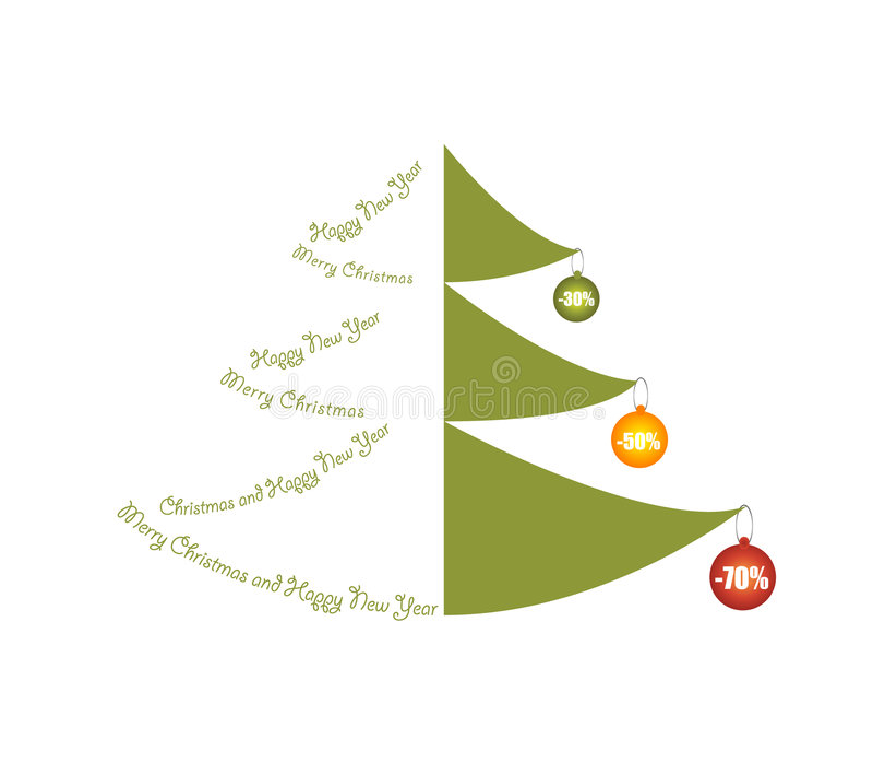 Vector Christmas Tree stock photos