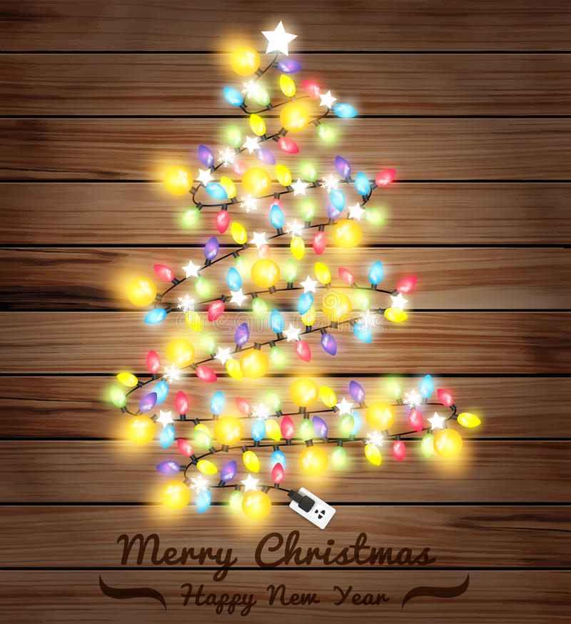 download vector christmas tree made of christmas lights stock vector image 60694470 - Christmas Tree Made Of Lights