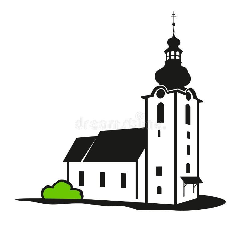 Vector Church Building Stock Illustration