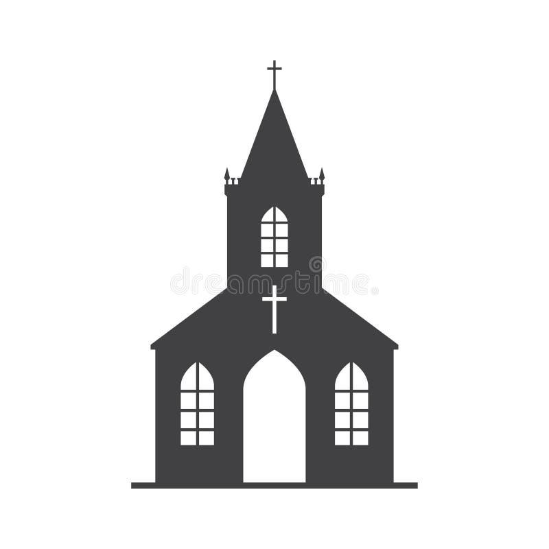 Vector church Icon royalty free illustration
