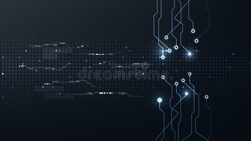 Vector cibernético futurista abstracto del fondo de la conexión a internet de la tecnología digital ilustración del vector