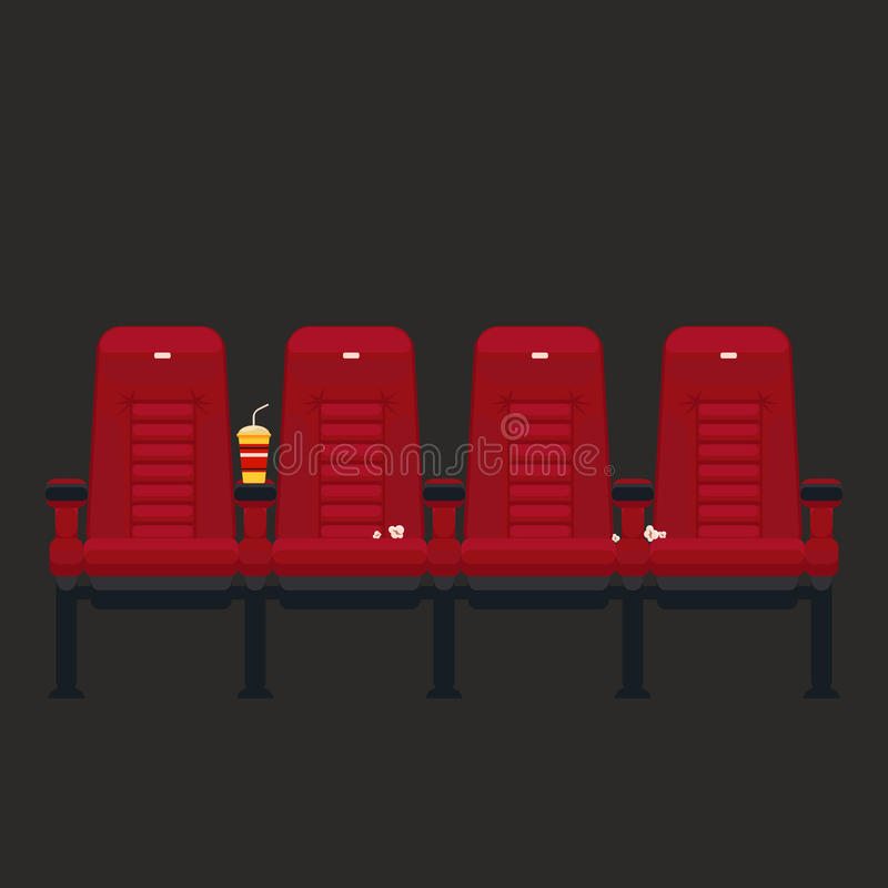 Download Vector Cinema Chairs In Flat Style Stock Vector   Image: 54831217