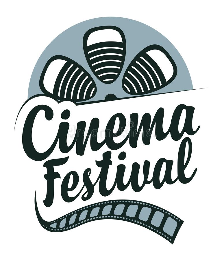 Vector cinema festival poster with film strip reel vector illustration