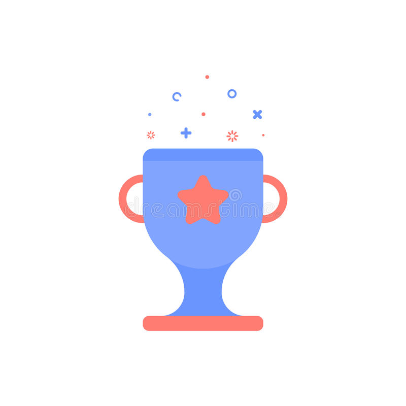 Vector cinema illustration of award cup icon in flat linear style. vector illustration