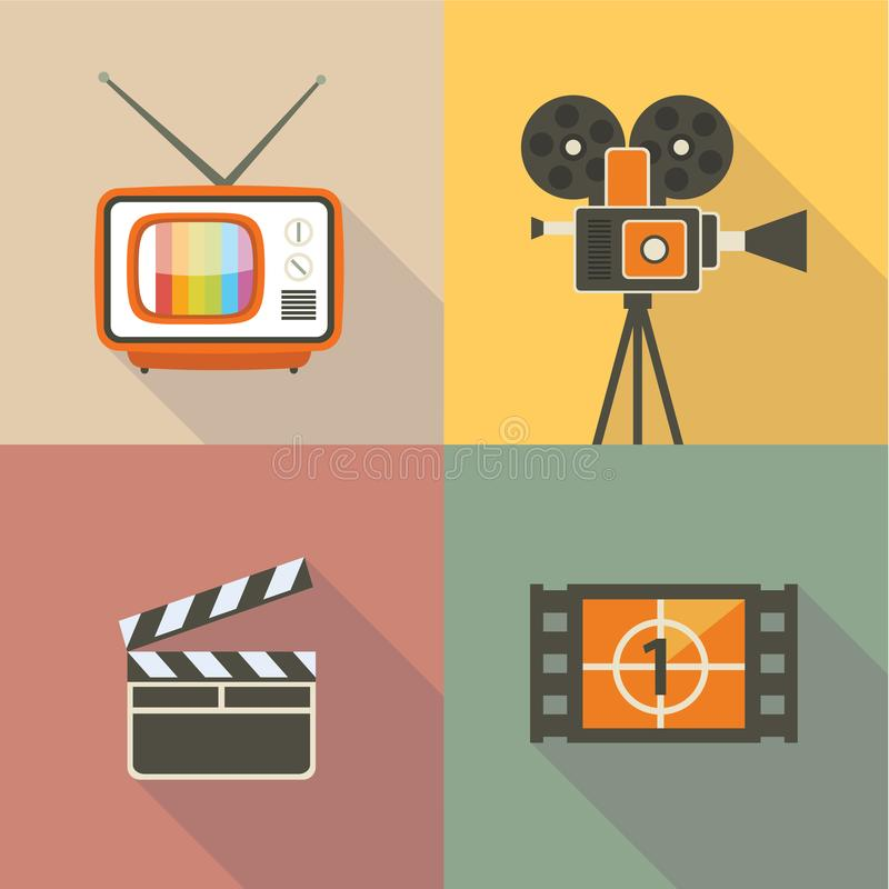 Vector Cinema set. Vector Cinema illustration, icon set vector illustration