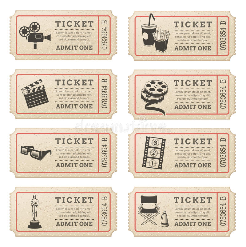 Vector Cinema Tickets Stock Vector