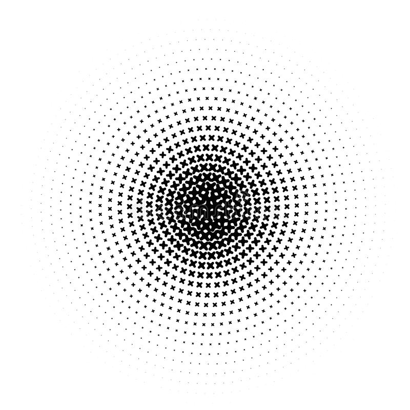Vector circl halftone geometric seamless pattern. Black white design for posters, sites, business cards, cover, labels royalty free illustration