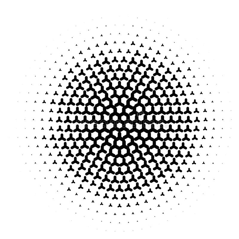 Vector circl halftone geometric seamless pattern. Black white design for posters, sites, business cards, cover, labels vector illustration