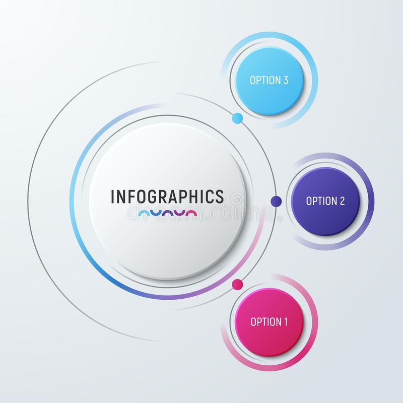 Vector circle chart infographic template for presentations, adve royalty free illustration