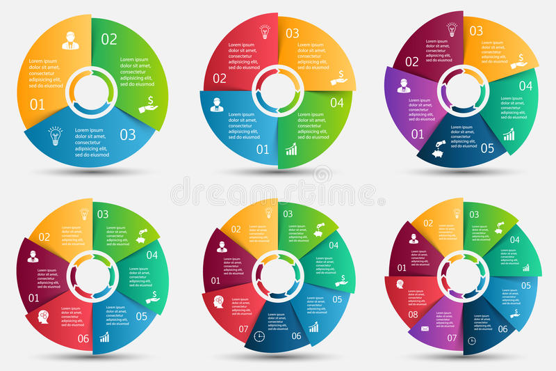 Vector circle element for infographic. royalty free illustration