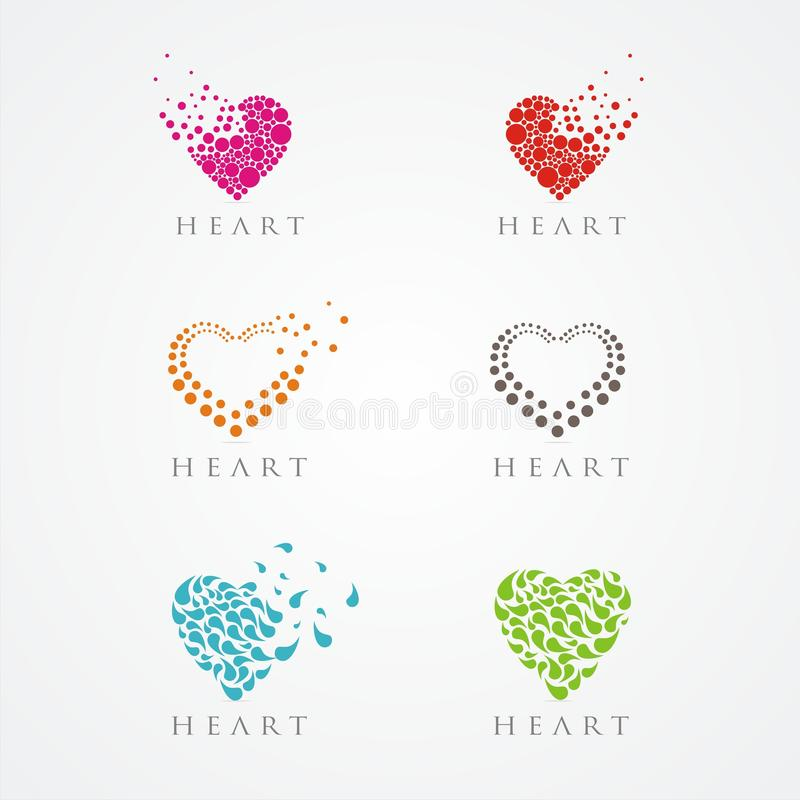 VECTOR : CIRCLE HEART LOGO royalty free stock photography