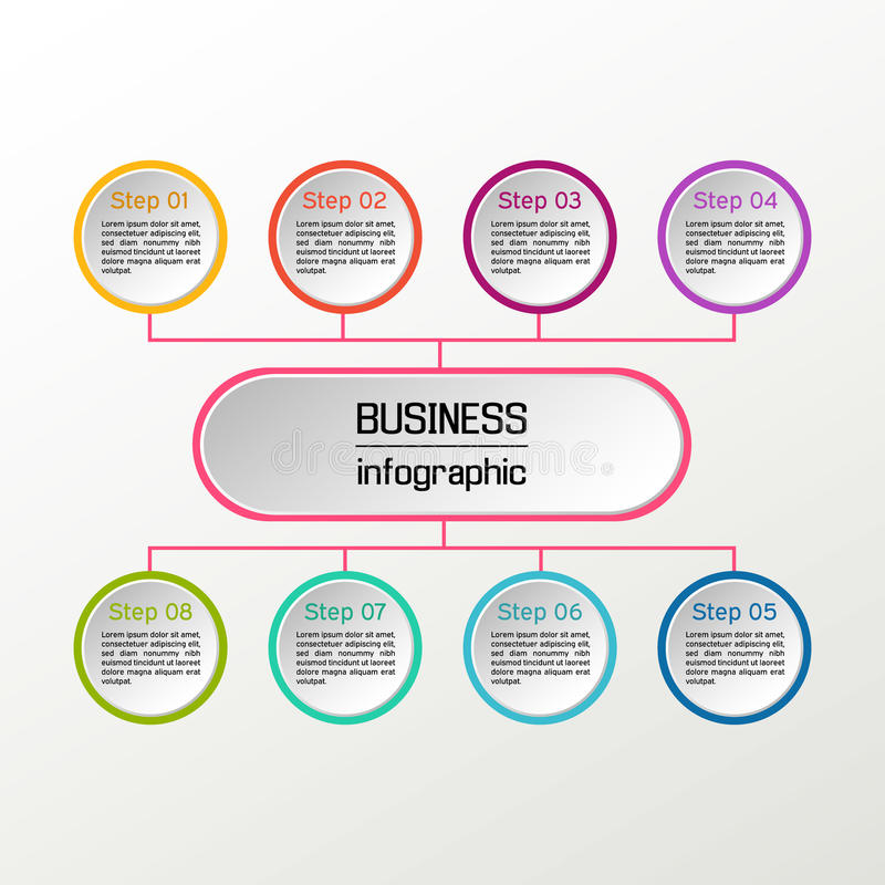 Vector circle infographic. Business diagrams, presentations and charts. Background. Vector circle infographic. Business diagrams, presentations and charts stock illustration